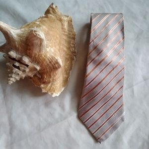 Doc Amelia tie , grey and orange